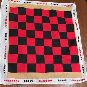 Vtg checkers/chess cotton bandanna